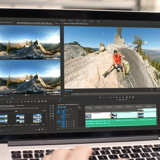 Profesor Narrativa Audiovisual y Adobe Premiere en Mac Book Pro