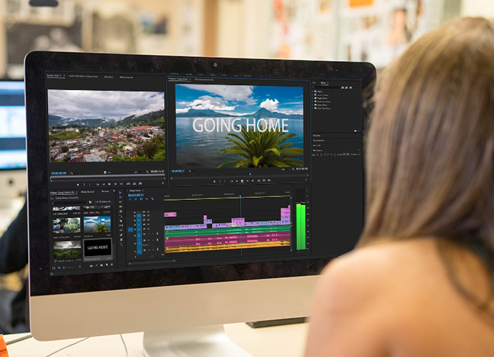 Profesor Narrativa Audiovisual y Adobe Premiere en iMac