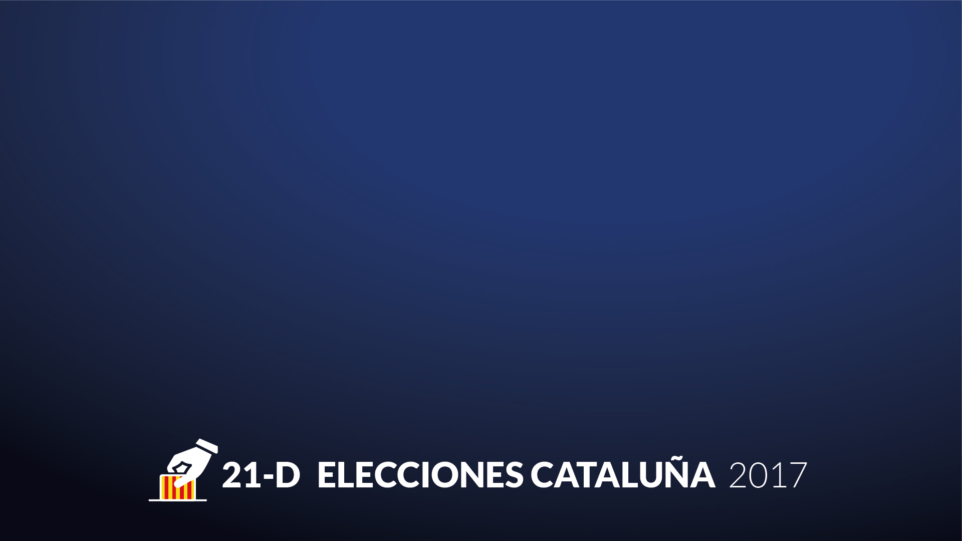 Streaming grafismo tv elecciones cataluña