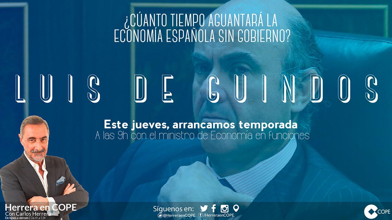 Tarjeta entrevista Luis de Guindos