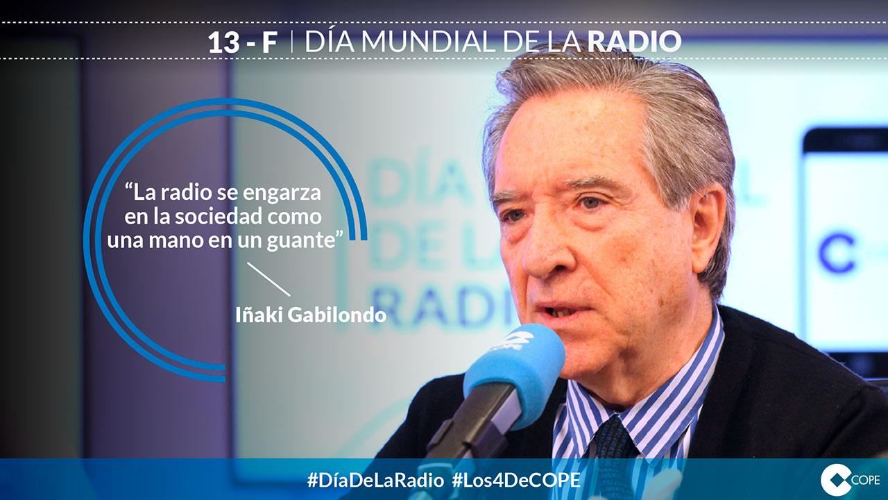 Diseño de tarjetas. Tarjeta Iñaki Gabilondo Día de la Radio