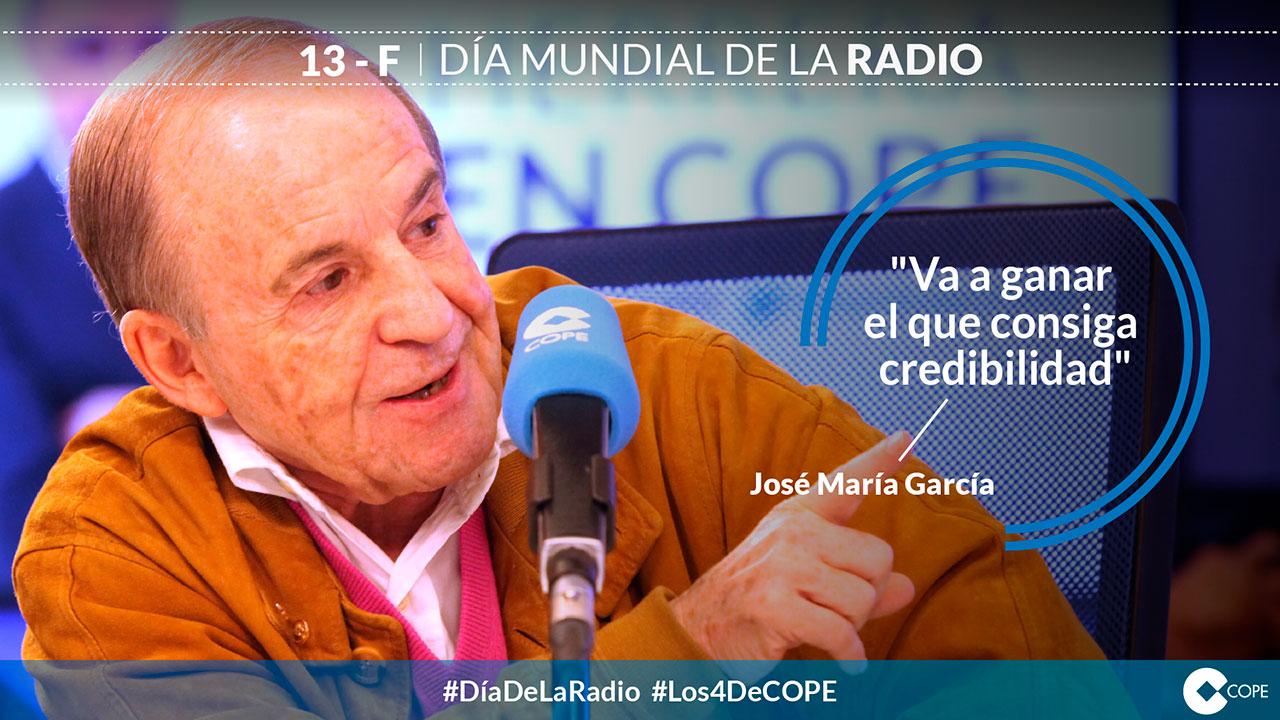 Diseño de tarjetas. Tarjeta José María García Día de la Radio