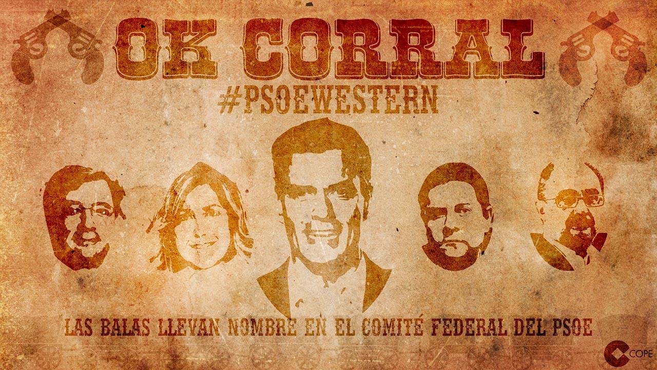 Diseño de tarjetas. Tarjeta Western PSOE