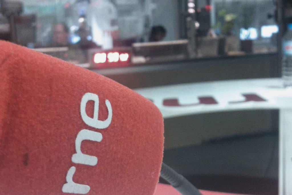 Micrófono RNE - Estudio 101 de la Casa de la Radio