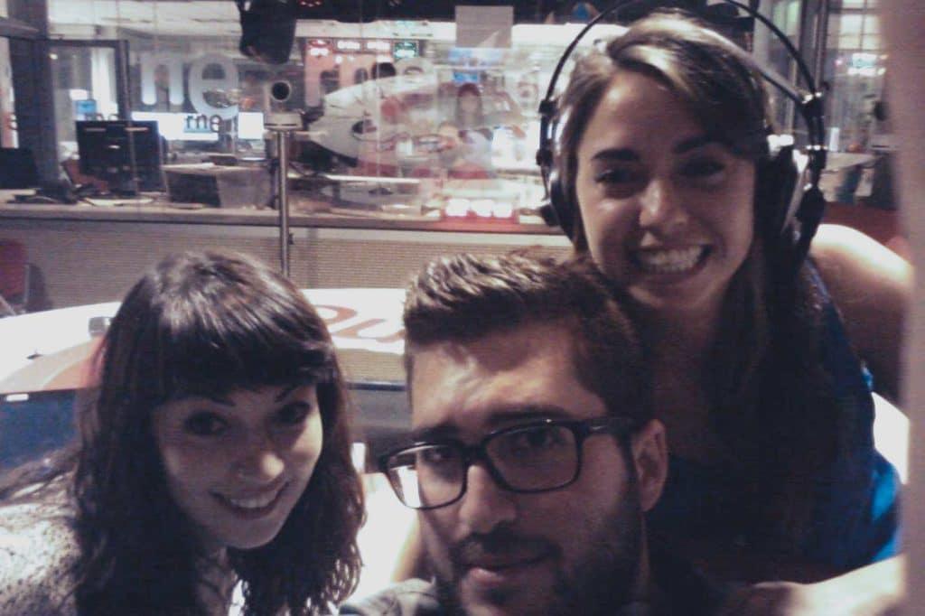 Raquel Elices, Cele Díaz y Ana Cortijo de Tomando el Fresco en el estudio 101 de RNE