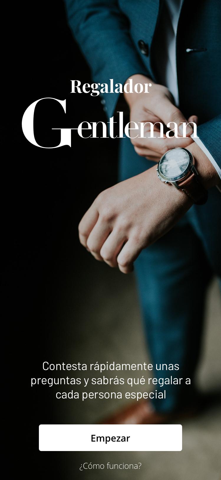 1. Regalador Gentleman. ONBOARDING