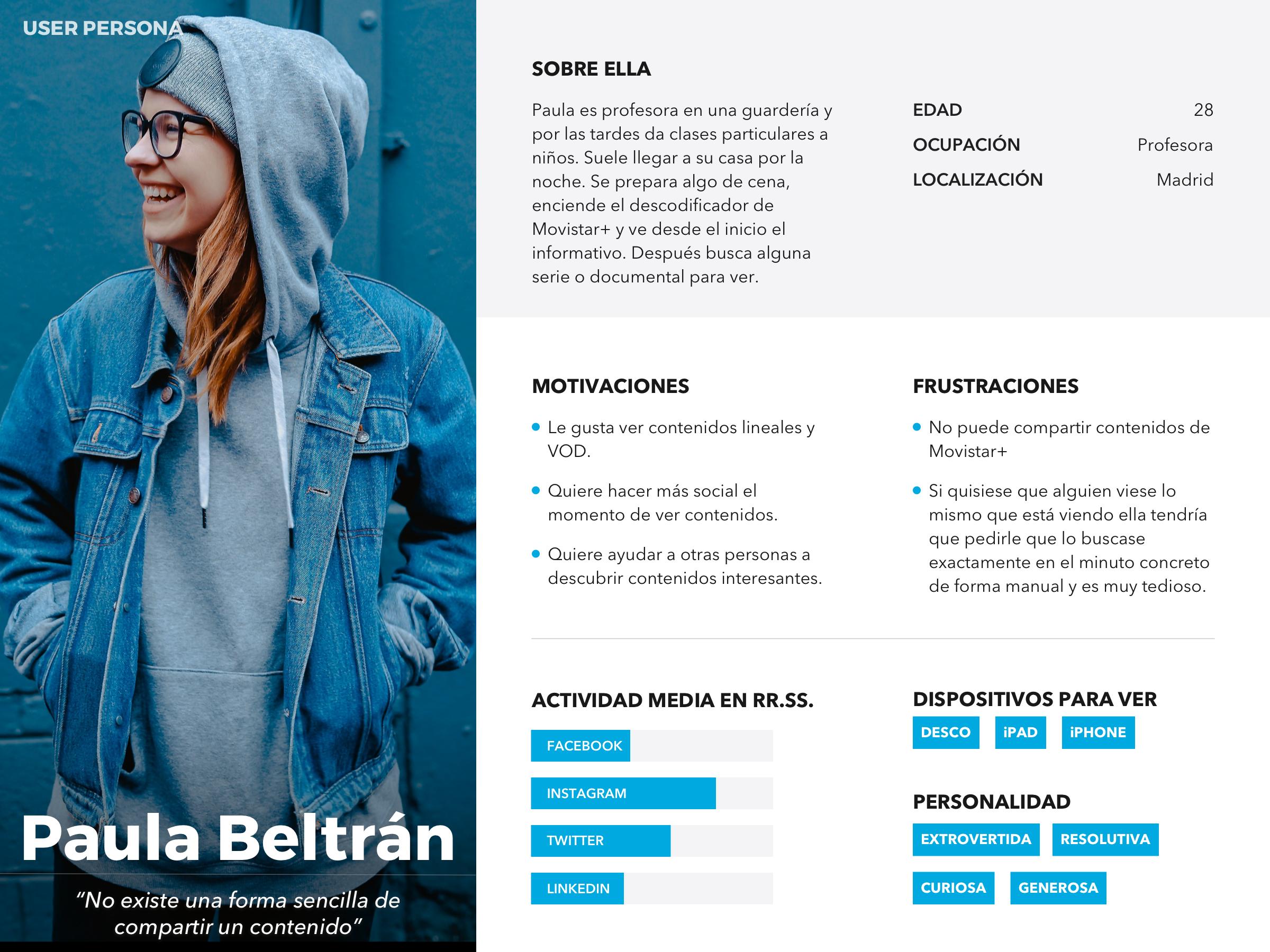 UX Persona de Paula Beltrán